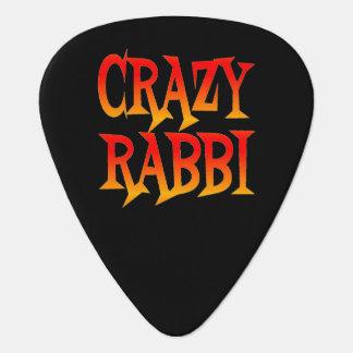 Rabino loco en colores brillantes púa de guitarra