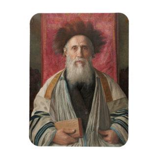 Rabino - pintura de Isador Kaufmann - circa 1920 Imanes
