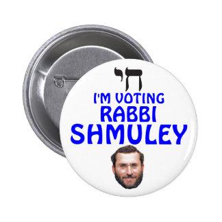 Rabino Shmuley Boteach para el congreso Pin Redondo De 2 Pulgadas