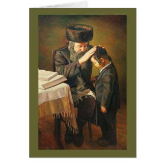 Rabino y estudiante felicitacion