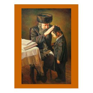 Rabino y estudiante postal