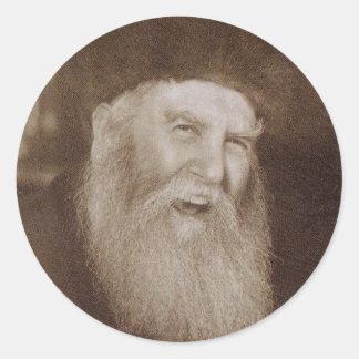 Rabino Yosef Yitzchak Schneersohn Pegatinas Redondas