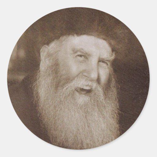 Rabino Yosef Yitzchak Schneersohn Pegatina Redonda