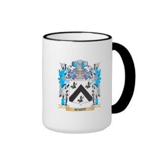 Rabit Coat of Arms - Family Crest Ringer Coffee Mug