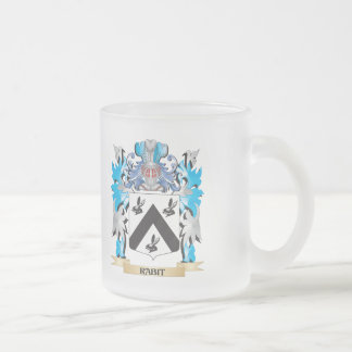 Rabit Coat of Arms - Family Crest 10 Oz Frosted Glass Coffee Mug
