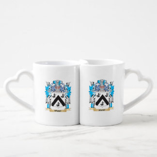 Rabit Coat of Arms - Family Crest Couples' Coffee Mug Set
