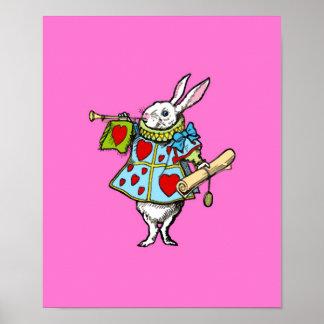 Rabitt in Alice in Wonderland ~ Print Poster