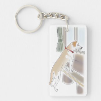 raburatoru which looks at outside from the window keychain