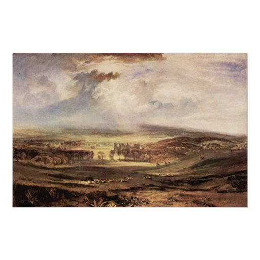 Raby Castle by Joseph Mallord Turner Print