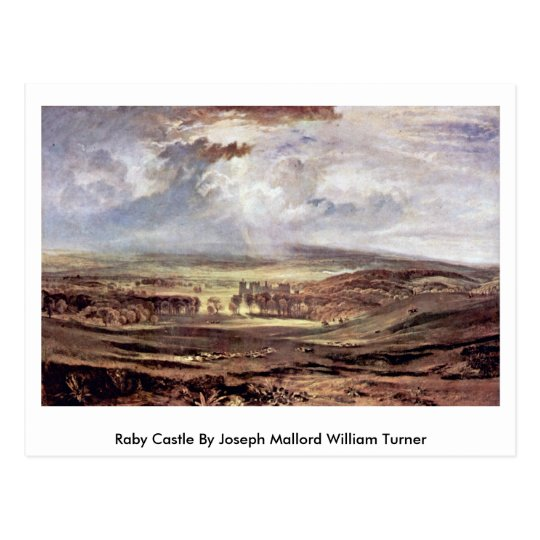 Raby Castle By Joseph Mallord William Turner Postcard