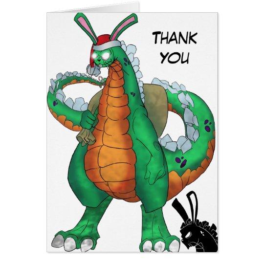 Rabzilla Holiday, Thank You Card