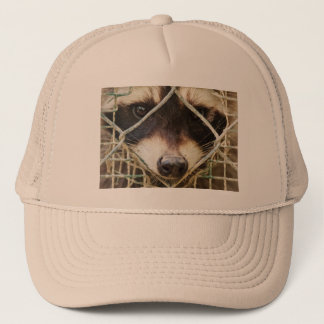 raccon   Trucker Hat  customizable