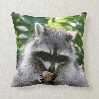 Raccoon 004 throw pillow