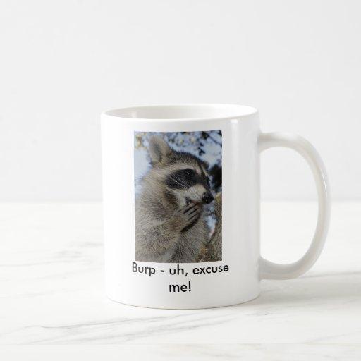 Raccoon - #1015 classic white coffee mug