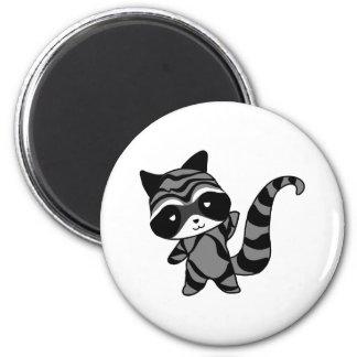 raccoon 2 inch round magnet