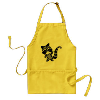raccoon adult apron