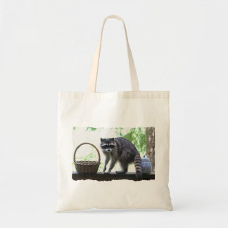 Raccoon and Cookie Jar Canvas Bags