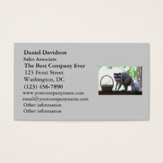 Raccoon and Cookie Jar Business Card