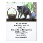 Raccoon and Cookie Jar 4.25x5.5 Paper Invitation Card