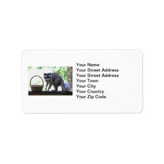Raccoon and Cookie Jar Custom Address Label