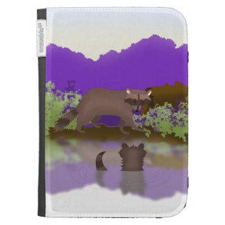 Raccoon and Cub Kindle Cover - Cute Wildlife Art