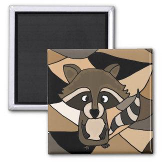 Raccoon Art Abstract Magnet