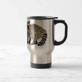 Raccoon at Attention Travel Mug