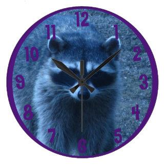 Raccoon at Dusk Wallclocks