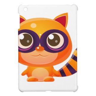 Raccoon Baby Animal In Girly Sweet Style iPad Mini Cases