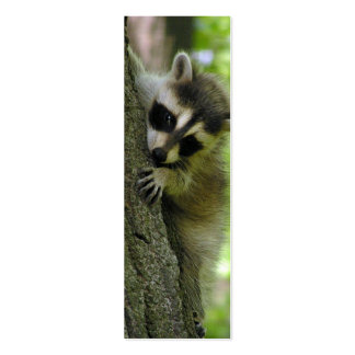 Raccoon Baby Skinny Business Card or Mini Bookmark