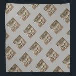"Raccoon Bandana<br><div class=""desc"">A cool bandana for Raccoon Lovers everywhere.  Raccoon on the diagonal on a grey background.</div>"