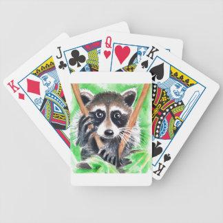 Raccoon Bandit Bicycle Playing Cards