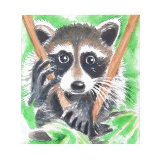 Raccoon Bandit Notepad