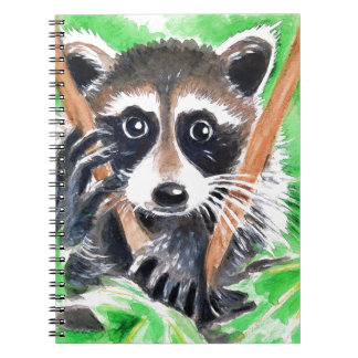 Raccoon Bandit Spiral Notebook