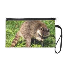 Raccoon Bathing Wristlet