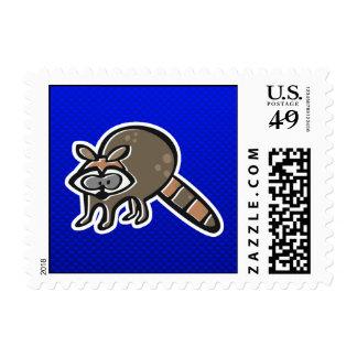 Raccoon; Blue Postage