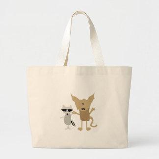 Raccoon & Bobcat Canvas Bags