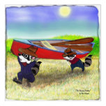 Raccoon Brothers and the Red Canoe Acrylic Print