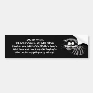 Raccoon Bumper Sticker