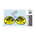Raccoon Butterflyfish Love Stamp