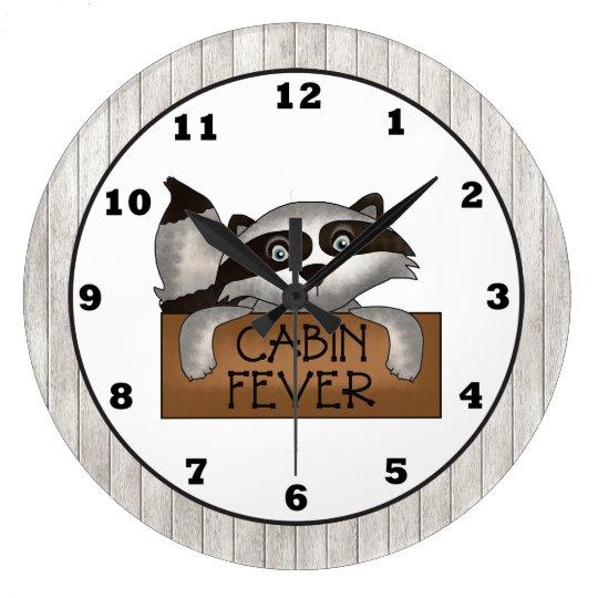 Raccoon Cabin Fever wall clock