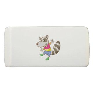 Raccoon cartoon eraser