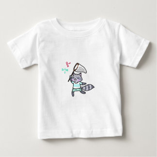 Raccoon Chasing Bugs Tshirts