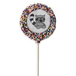 Raccoon Chocolate Dipped Oreo Pop