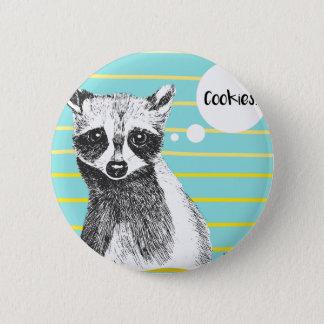 Raccoon_Cookies_113323534.ai Pinback Button