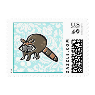 Raccoon; Cute Postage Stamps