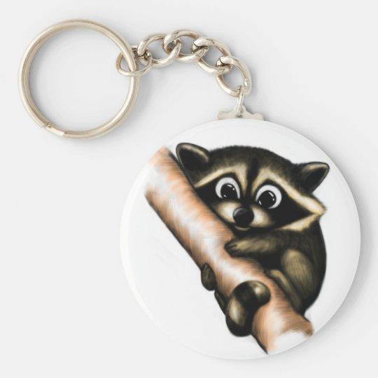 Raccoon Design Keychain