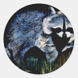 Raccoon Designer CricketDiane Stuff Classic Round Sticker