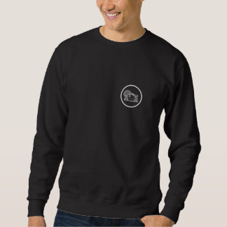 Raccoon dog in circle sweatshirt