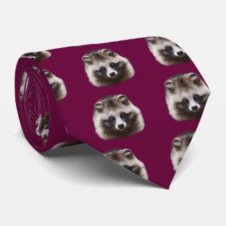 Raccoon dog neck tie